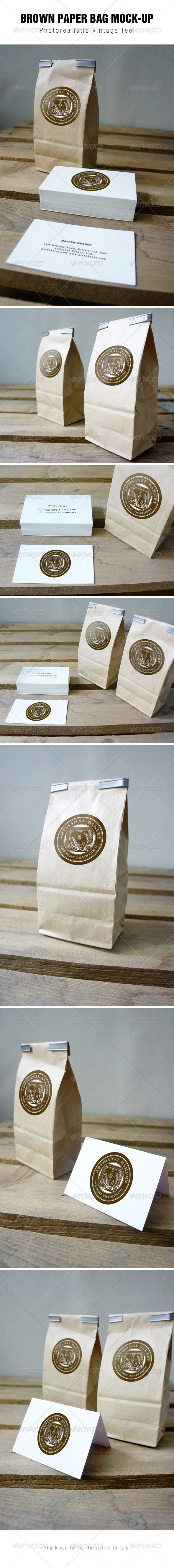 GraphicRiver Brown Paper Bag Mockup 7470834