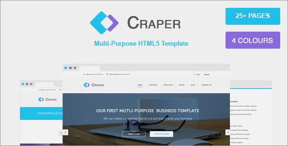 ThemeForest Craper Responsive Multi-purpose HTML5 Template 7485107