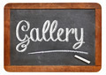 gallery word on blackboard - PhotoDune Item for Sale