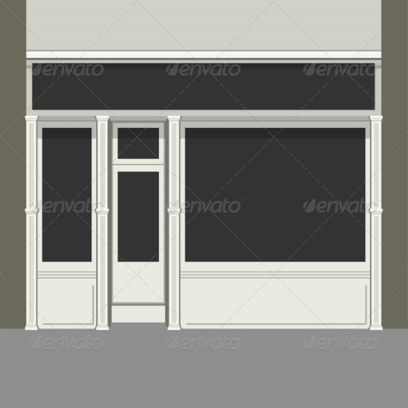 GraphicRiver Shopfront with Black Windows 7487934