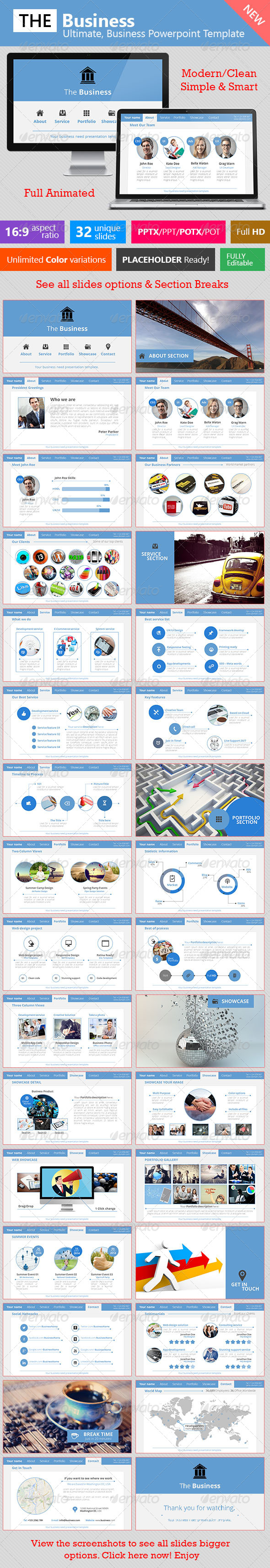 GraphicRiver The Business Ultimate Business Template 7488380