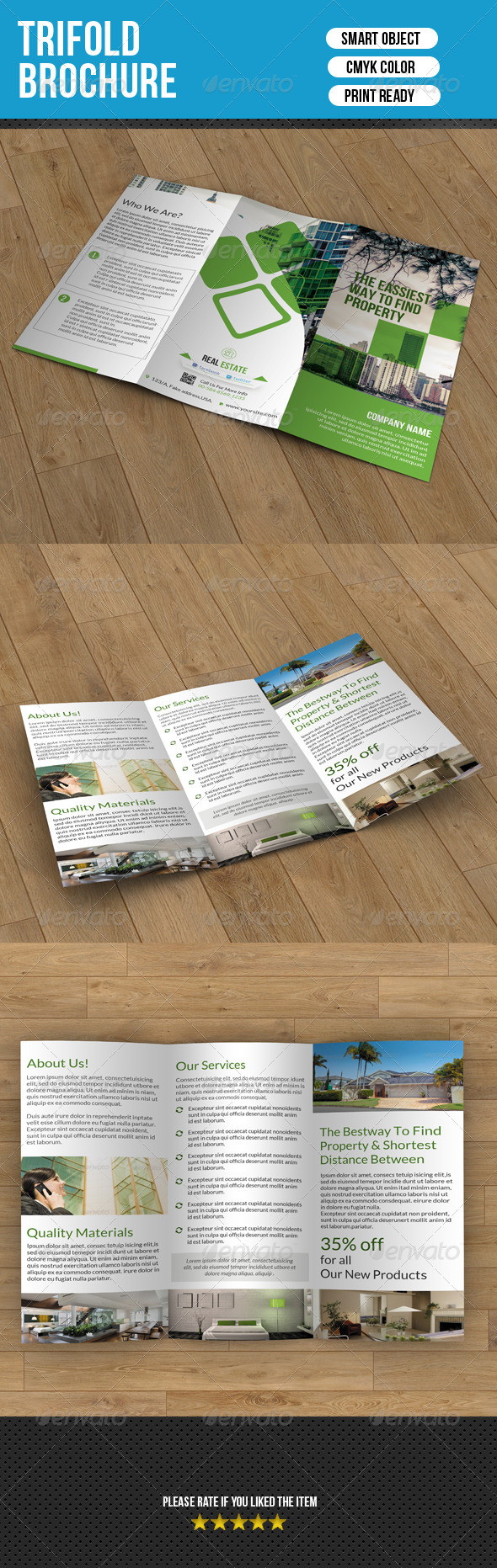 GraphicRiver Real Estate Trifold Brochure 7488382