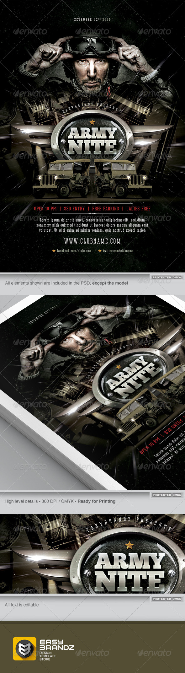 GraphicRiver Army Nite Flyer Template 7476586