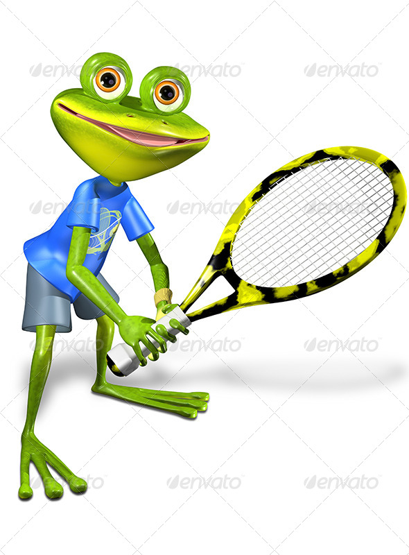 GraphicRiver Frog Tennis 7488955