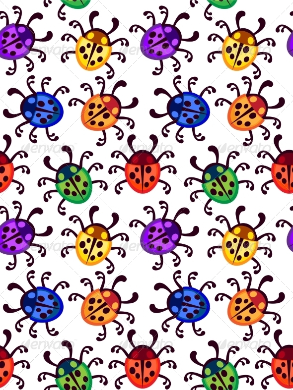 GraphicRiver Ladybug Pattern 7489124