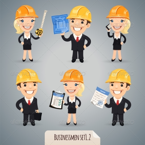 GraphicRiver Businessmen Cartoon Characters Set 1.2 7489183