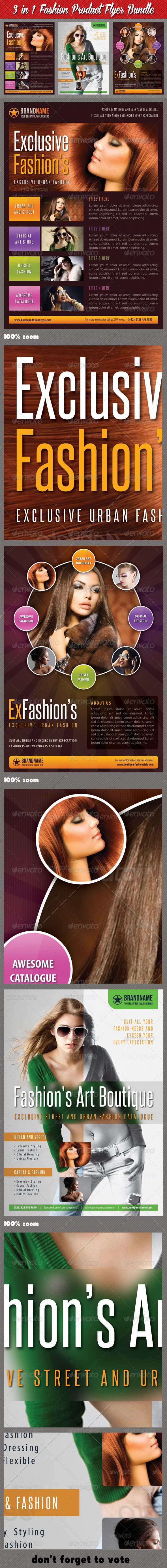 GraphicRiver 3 in 1 Fashion Product Flyer Bundle 15 7489236