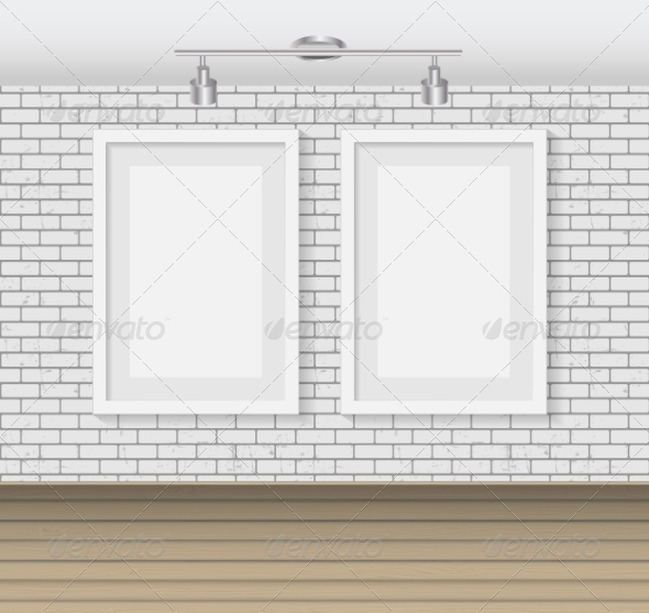 GraphicRiver Frame on Brick Wall for Your Text and Images 7489516