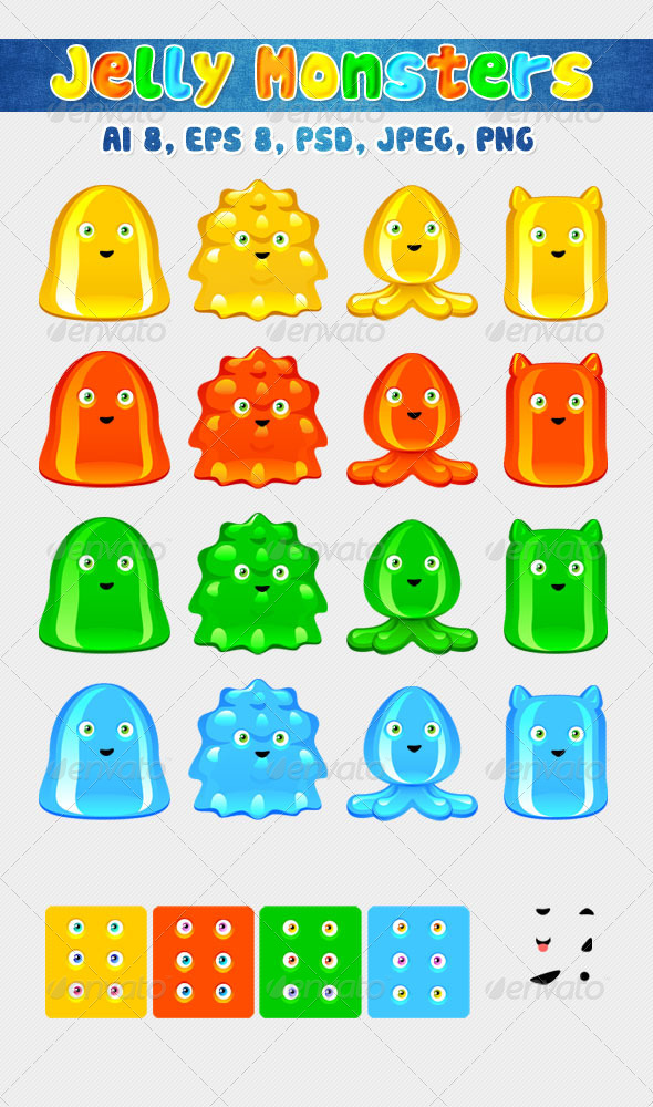 GraphicRiver Jelly Monsters 7489627