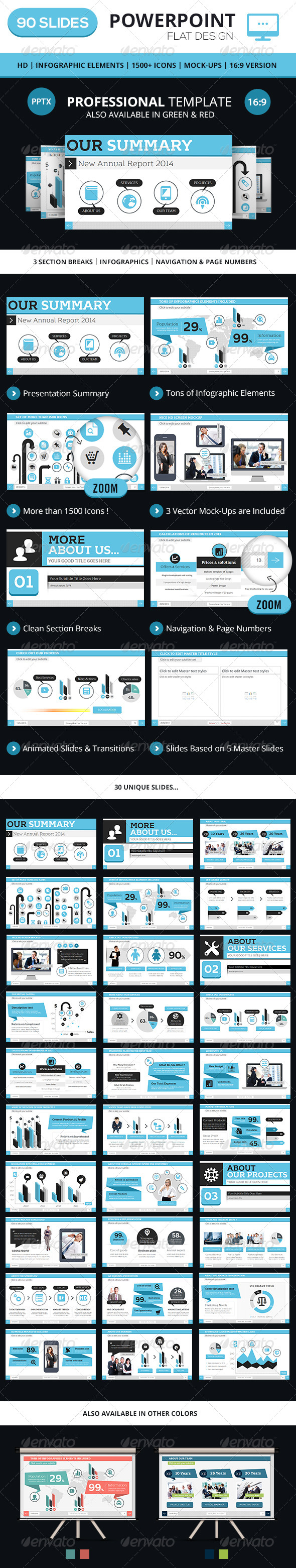 GraphicRiver Professional PowerPoint Business Template 7489847