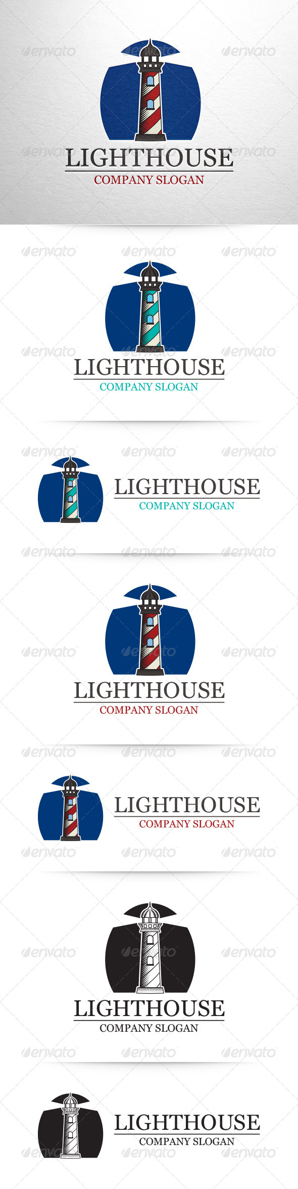 GraphicRiver Lighthouse Logo Template 7489851