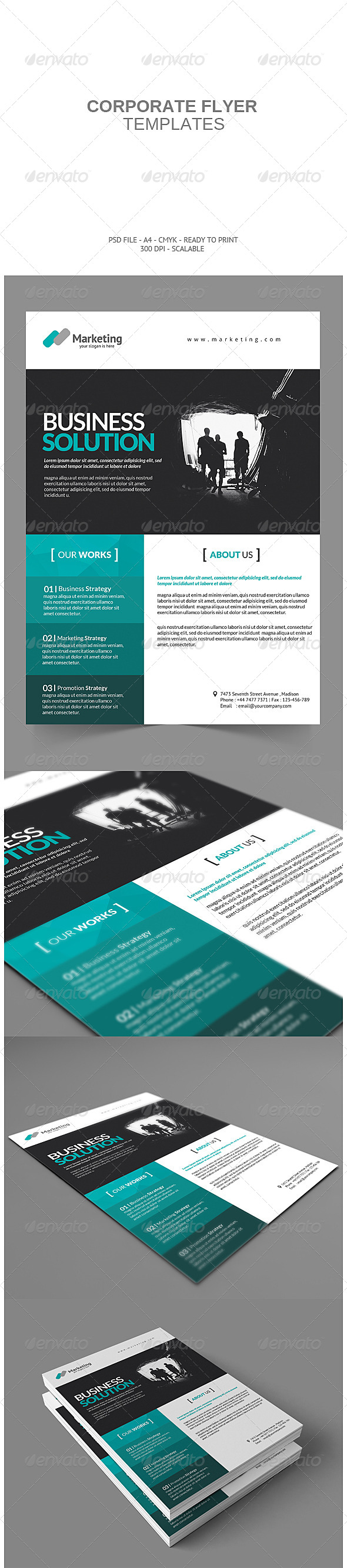 GraphicRiver Corporate Flyer 7490017
