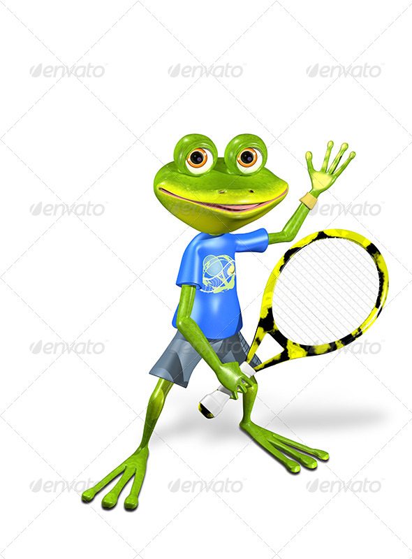 GraphicRiver Frog Tennis 7490142