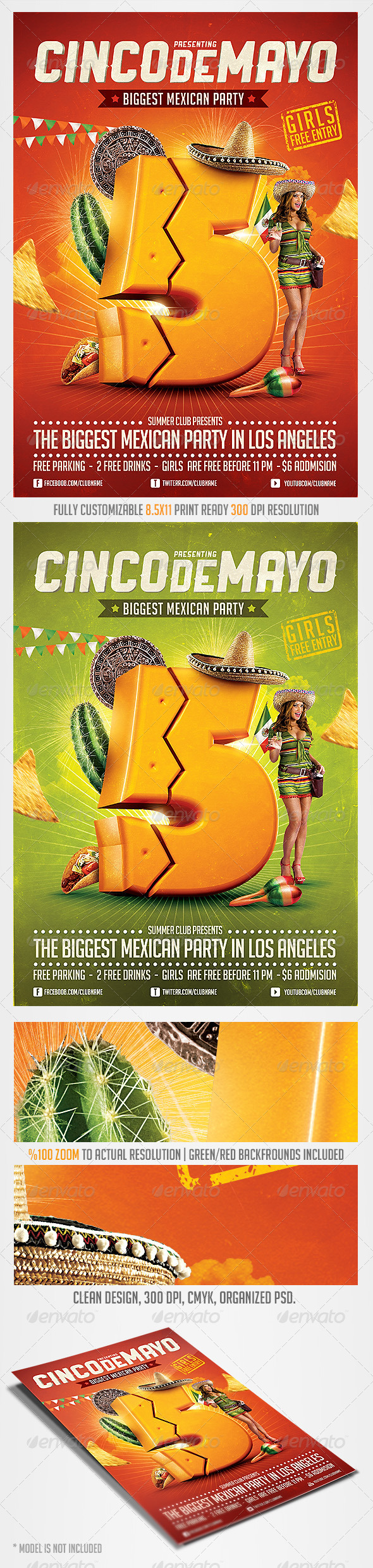 GraphicRiver Cinco de Mayo Party Flyer 4 7485770