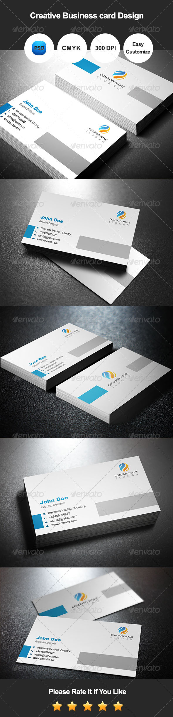 GraphicRiver Creative Business Card Design 7490717