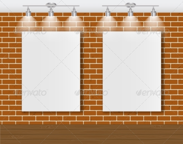 GraphicRiver Frame on Brick Wall for Your Text and Images 7492019