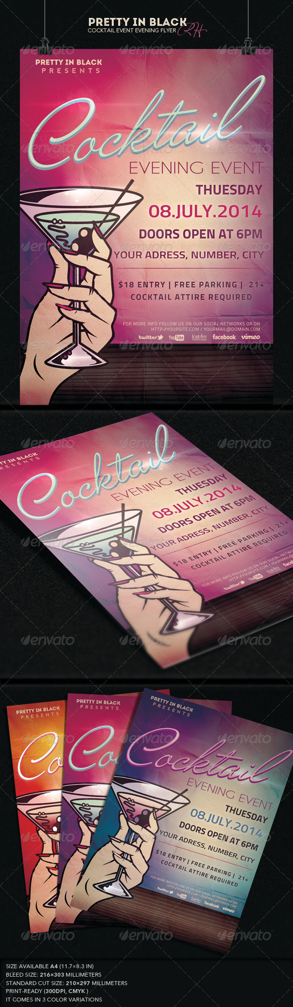 GraphicRiver Cocktail Event Flyer 7492050
