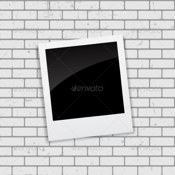 GraphicRiver Instant Photos on Grunge Brick Background 7492494