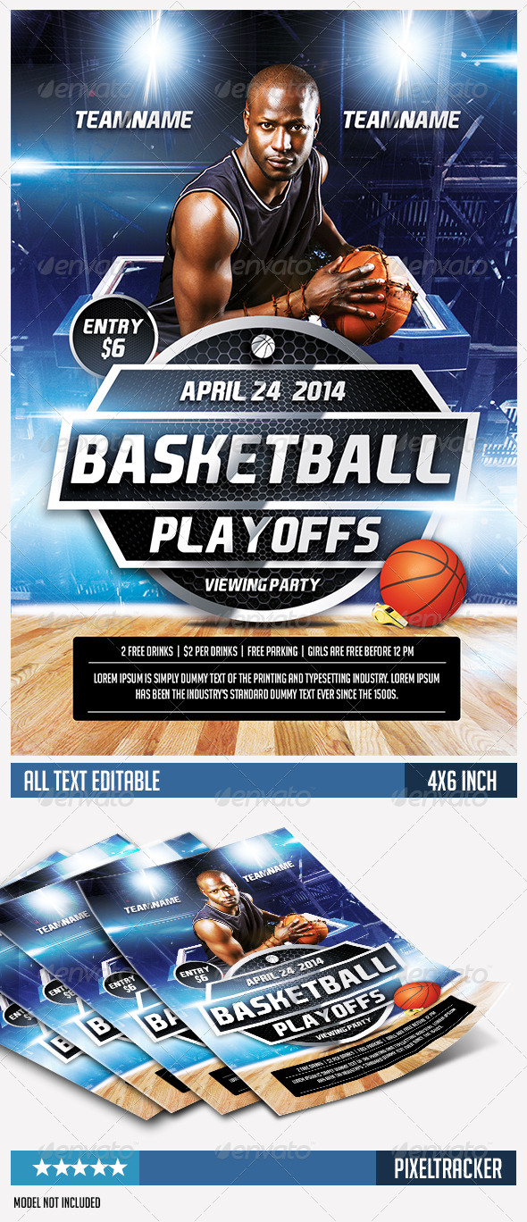 GraphicRiver Basketball Event Flyer Template 7492846