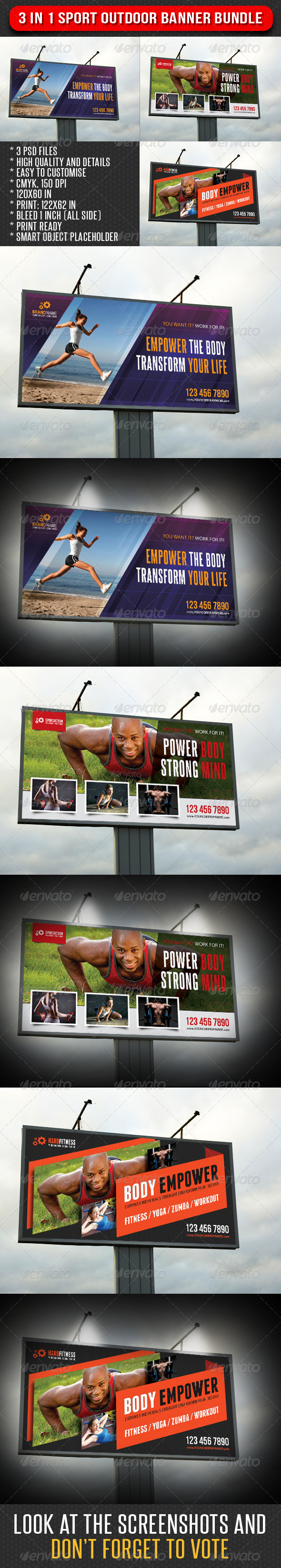 GraphicRiver 3 in 1 Sport Outdoor Banner Bundle 05 7493431