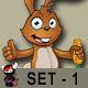 Brown Easter Rabbit – Set 1 - GraphicRiver Item for Sale