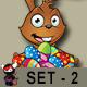 Brown Easter Rabbit – Set 2 - GraphicRiver Item for Sale