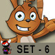 Brown Easter Rabbit – Set 6 - GraphicRiver Item for Sale