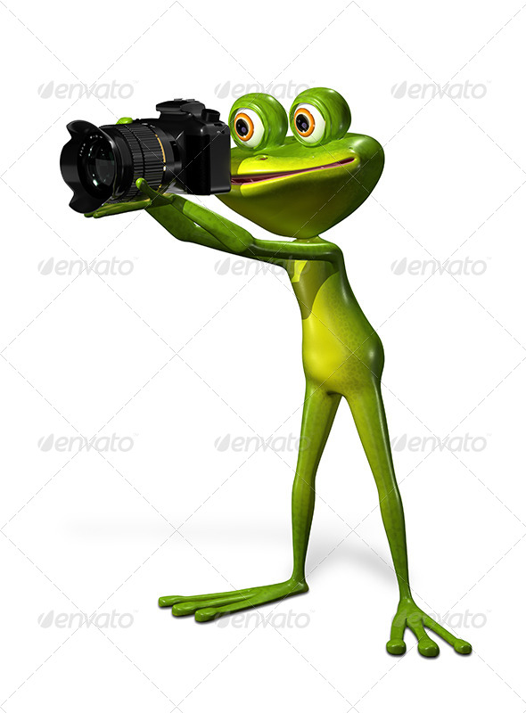GraphicRiver Frog with a Camera 7497015