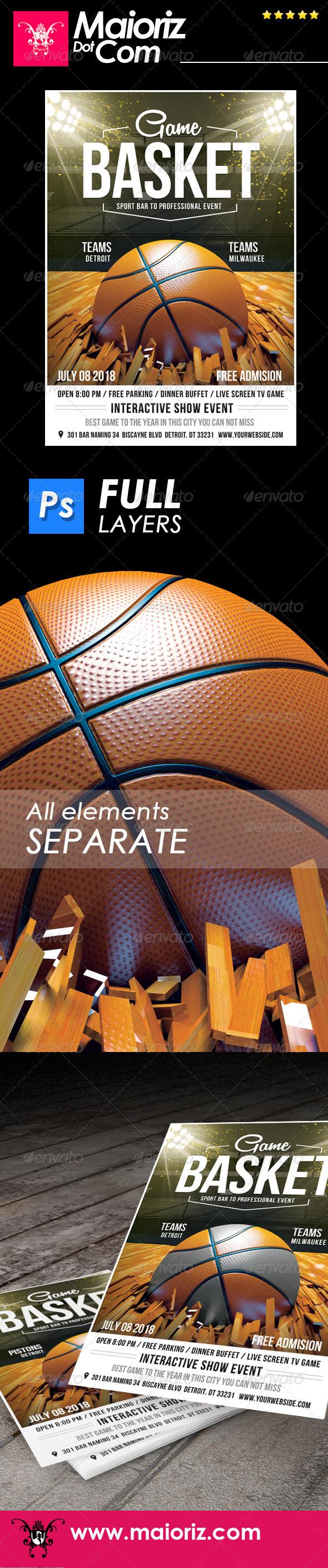 GraphicRiver Basketball Event Flyer 7493642