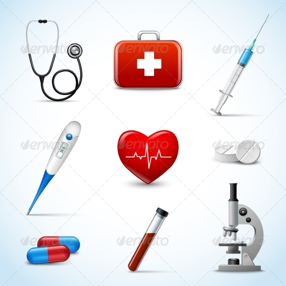 GraphicRiver Realistic Medical Icons 7497156