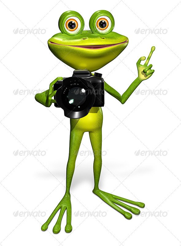 GraphicRiver Frog with a Camera 7497175