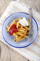 french fries red and white on a plate - PhotoDune Item for Sale