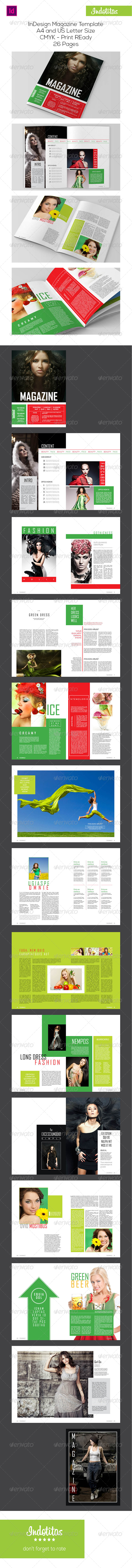 GraphicRiver InDesign Magazine Template 7494347