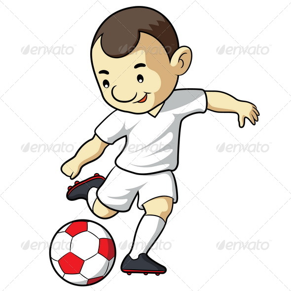 GraphicRiver Soccer Kid Cartoon 7497590