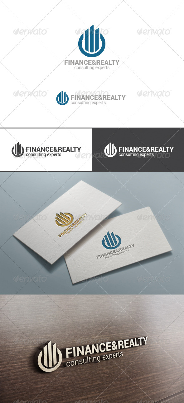 GraphicRiver Real Estate & Finance Circle Logo Abstract 7497599