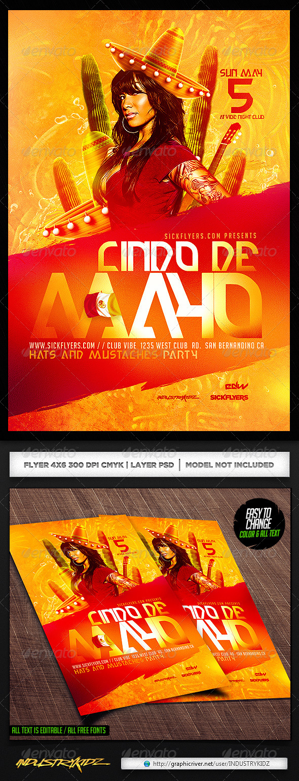 GraphicRiver Cinco de Mayo Flyer Template 7497810
