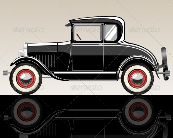 GraphicRiver Retro Car 7498633