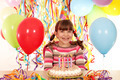 happy little girl with birthday cake - PhotoDune Item for Sale