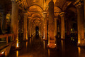 Underground Cistern with water, Istanbul, Turkey - PhotoDune Item for Sale