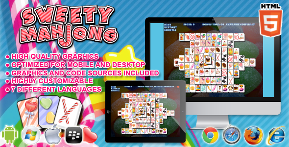 CodeCanyon Sweety Mahjong HTML5 Game 7499061