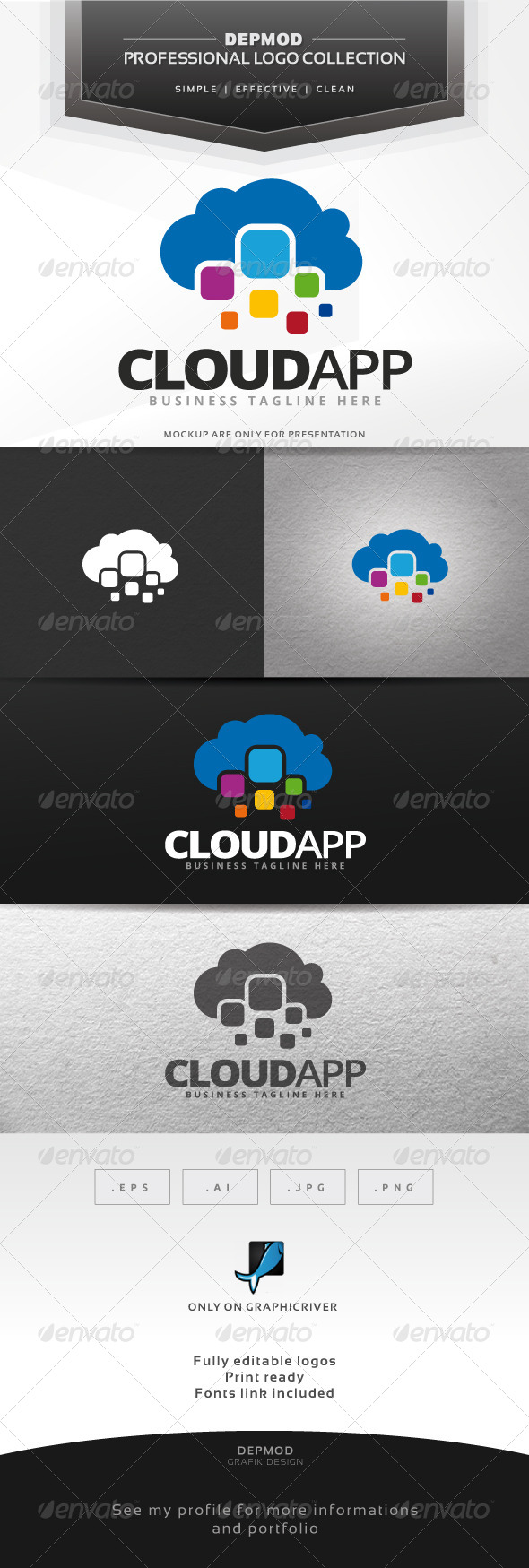 GraphicRiver Cloud App Logo 7499166