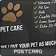 Pet Care Postcard - GraphicRiver Item for Sale