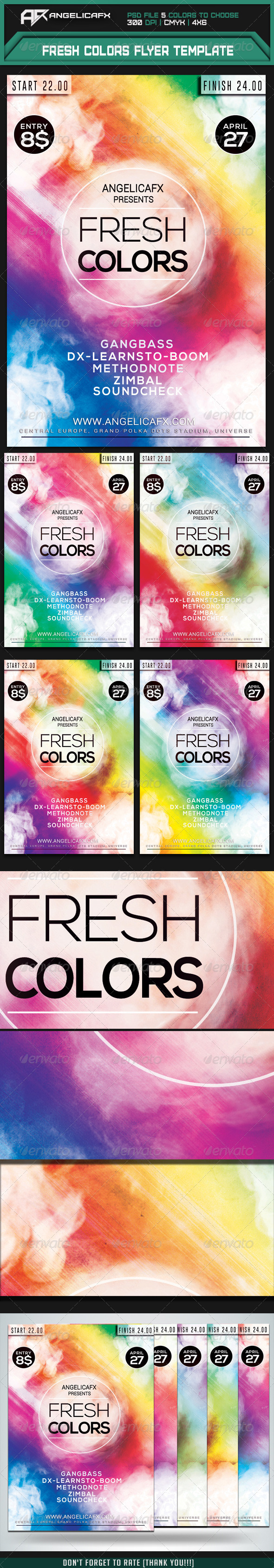 GraphicRiver Fresh Colors Flyer Template 7415188