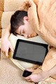 Teenager sleeps with Tablet Computer - PhotoDune Item for Sale