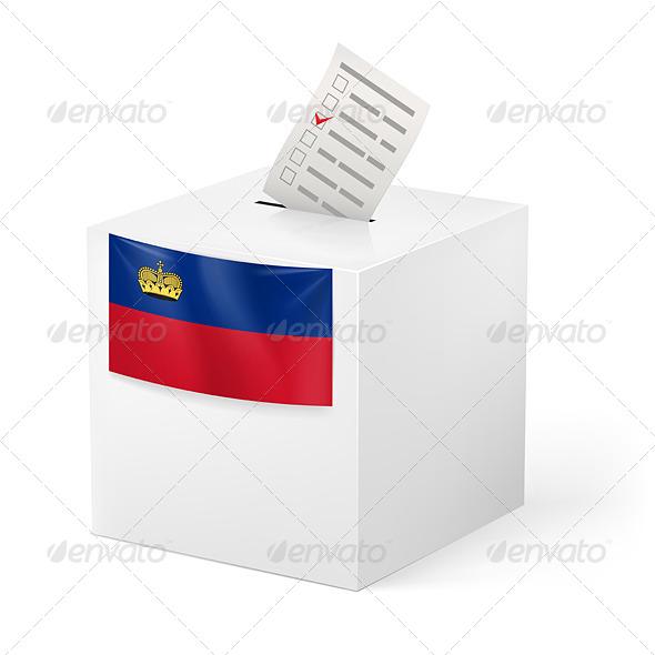 GraphicRiver Ballot Box with Voting Paper Liechtenstein 7499553