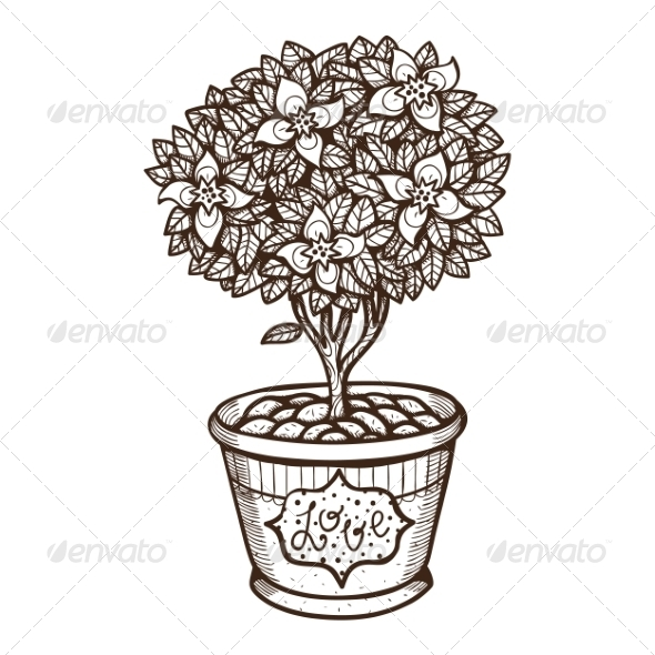 GraphicRiver Flower in a Pot 7499658