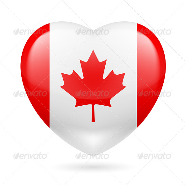 GraphicRiver Heart Icon of Canada 7499719