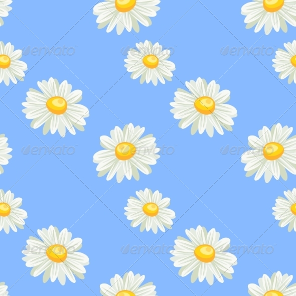 GraphicRiver Camomile Seamless Pattern 7499874