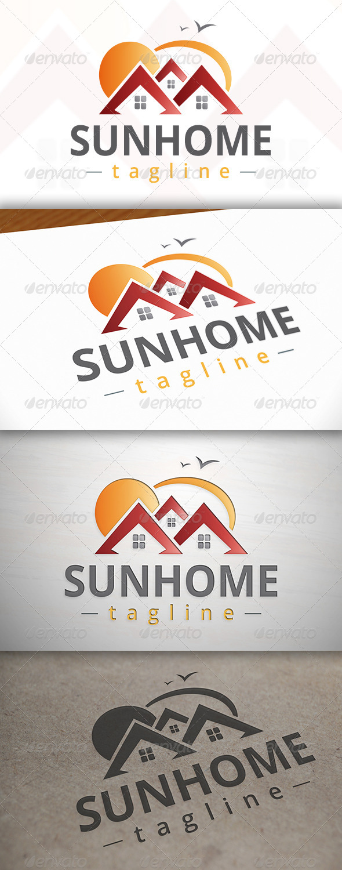 GraphicRiver Sun Home Logo 7499892