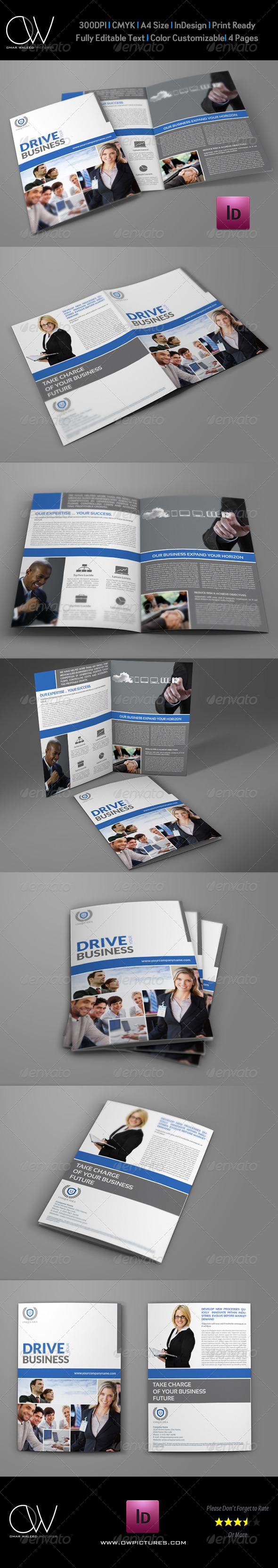 GraphicRiver Company Brochure Bi-Fold Template Vol.23 7499915